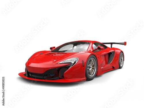 Futuristic red sportscar - beauty shot