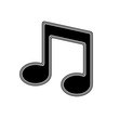 The Musical Note Icon on A white Background.