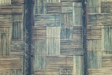 Native Thai style bamboo wall. Bamboo pattern basketry handmade