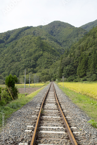JR山田線沿線の田園風景 Poster