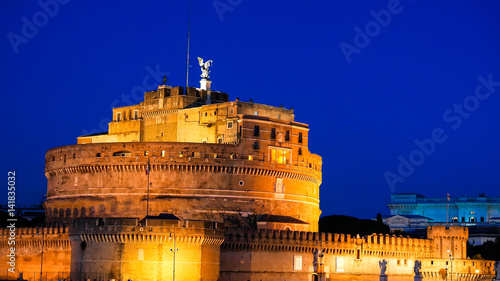 Sant'Angelo, Evening, Zoom, Rome. Italy