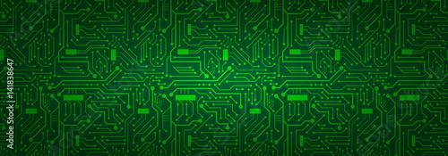 Tło Banner Circuit Board (zielony)