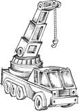 Doodle Crane Vector Illustration Art