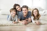 Fototapeta familie zuhause