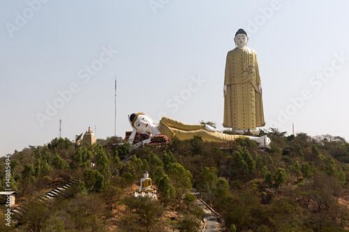 Poster Budas en Moniwa, Myanmar.