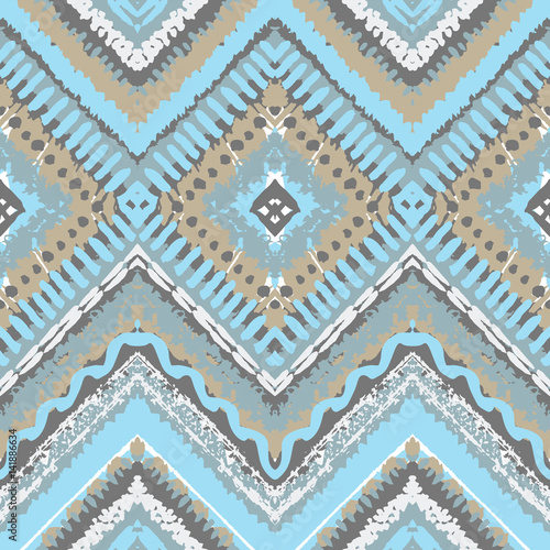 Tribal ethnic seamless pattern - 141886634