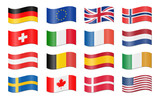 swung country flags - 141893250
