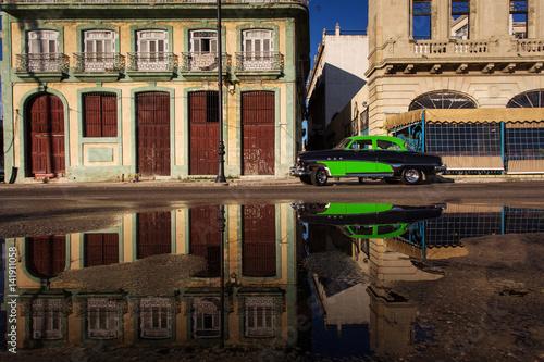 Foto op Canvas Havana Old car on street of Havana, Cuba