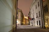 Ulica Kanonicza w Krakowie nocą
