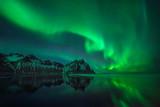 Fototapety Stokksnes aurora reflections