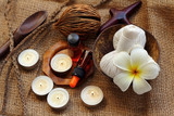 Frangipani or Plumeria is flower for spa and massage.