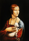 My own reproduction of painting Lady with an Ermine by Leonardo da Vinci. Graphic effect.