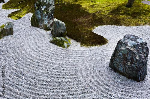 Tuinposter Stenen in het Zand 枯山水