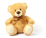 toy teddy isolated on white background - 141941820