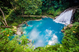 Blue hole waterfall