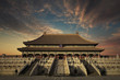 Forbidden City with twilight sky