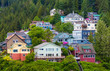 Colorful Houses on Ketchikan Hillside