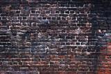 Black brick texture, dark background wall