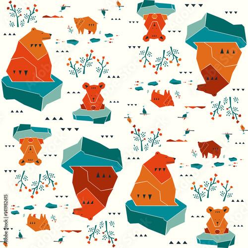 Modern animalistic textile pattern