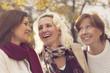 Happy group of mature women having fun