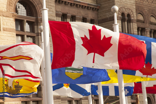 Foto op Plexiglas Toronto Canada flag, Toronto