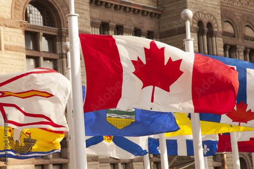 Canada flag, Toronto Poster