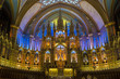 Interior of Notre Dame Basilica, Montreal, Canada