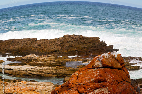 Papiers peints Orange eclat in south africa sky ocean reserve