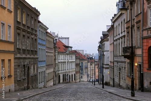 Fototapety, obrazy : Mostowa street on old town in Warsaw, Poland