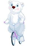 Polar Bear Riding a Bicycle