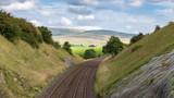 Railway line near Smardale, Yorkshire Dales, Cumbria, UK