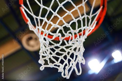 Fotobehang Basketbal Basketball hoop and net closeup