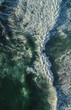 Aerial drone shots of waves