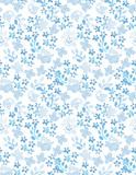 Seamless pattern with a bright floral print.