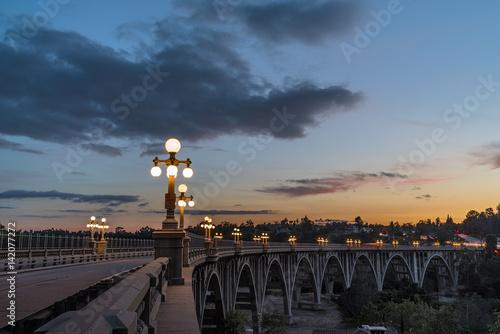 The iconic Colorado Street Bridge in Pasadena.
