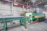 workshop for the production of aluminum profiles. aluminum extrusion press - 142087850