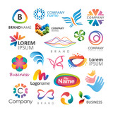 Abstract vector elements for logo design - 142128882