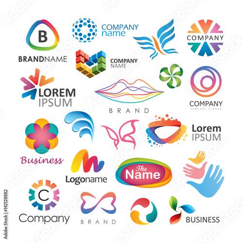 Streszczenie wektor elementów projektu logo