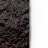 Abstract background of triangle polygons background. Black and red. 3D rendering - 142131623