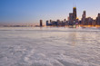Winter view of Chicago skyline