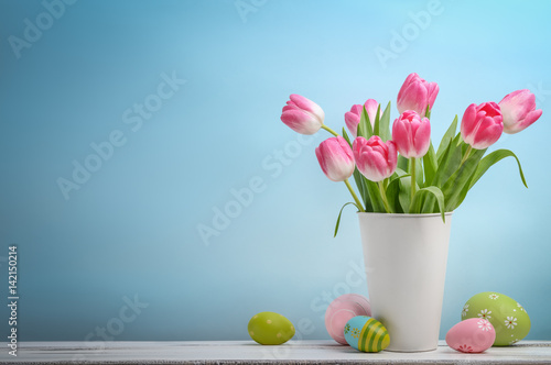 Spring easter tulips
