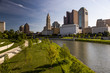 Scioto River - Downtown Columbus, Ohio Skyline