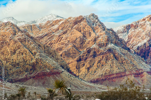 Poster Red Rock Conservation Area Las Vegas Nevada Snowy Wintertime