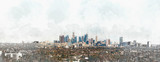 Panoramic view of Downtown Los Angeles - 142162054