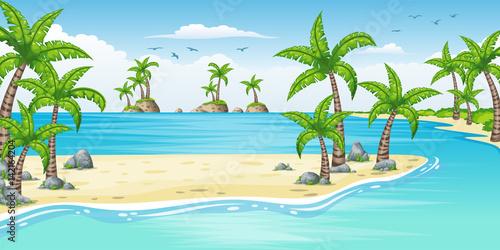 palmy,-ocean,-tropikalny-krajobraz