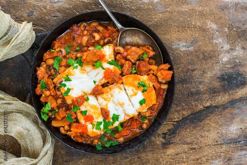Cod, bean and chorizo stew