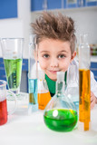 Boy in chemical lab - 142184658