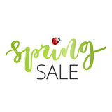 Spring sale hand written inscription - 142188883
