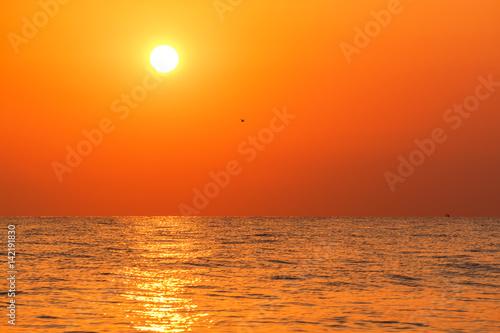 Foto op Canvas Baksteen Sea at sunrise. Greece