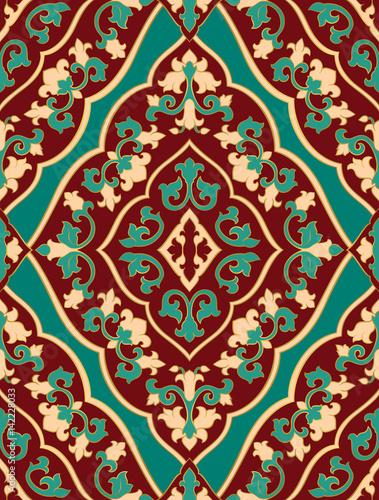 Staande foto Kunstmatig Oriental red and turquoise ornament.